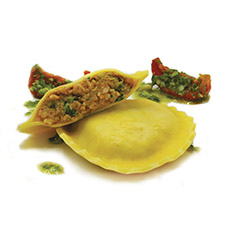 Sausage and Broccoli Ravioli