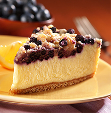 Lemon Blueberry Crumb Cheesecake